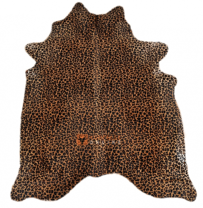 KUHFELL LEOPARDEN Print  200 x 155 cm