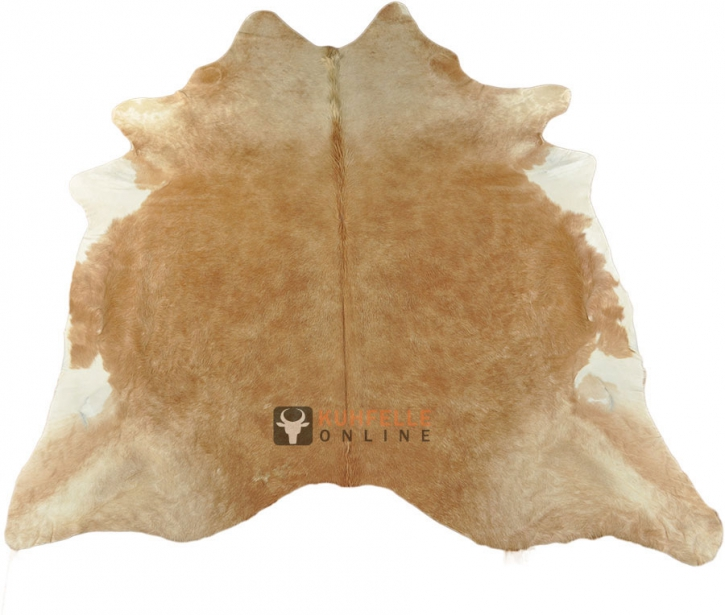 KUHFELL STIERFELL COWHIDE HELLBRAUN  210 x 210 cm