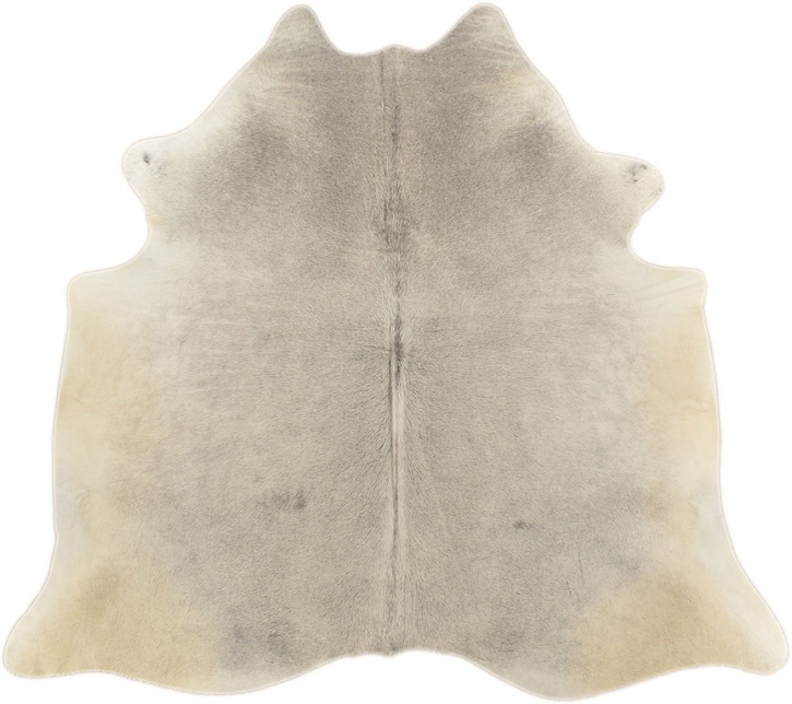 Kuhfell Kalbfell grau beige Natur 190 x 160 cm