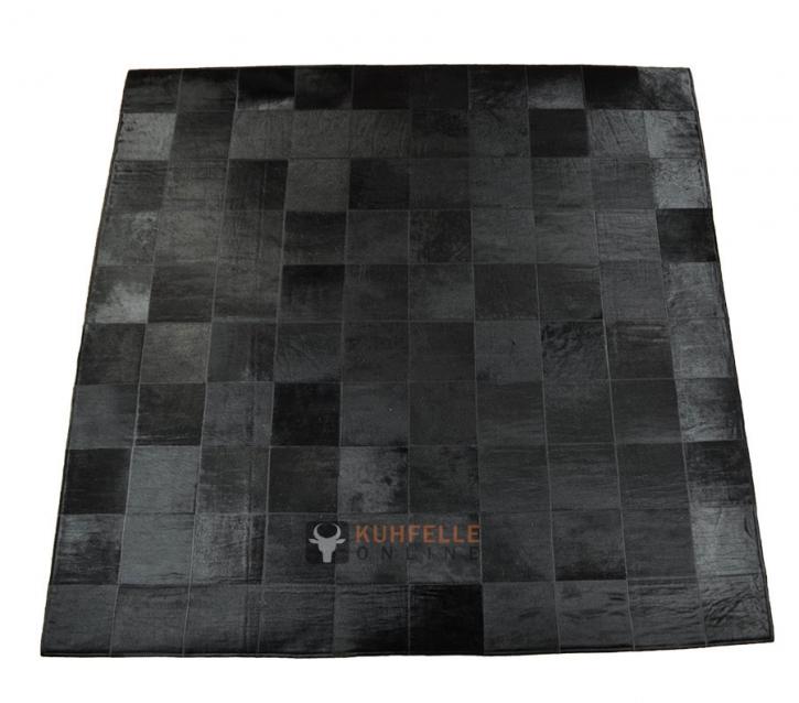 KUHFELLTEPPICH SCHWARZ 200 x 200 cm