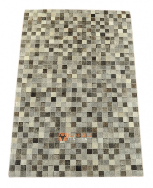 KUHFELLTEPPICH GRAU 180 x 120 cm