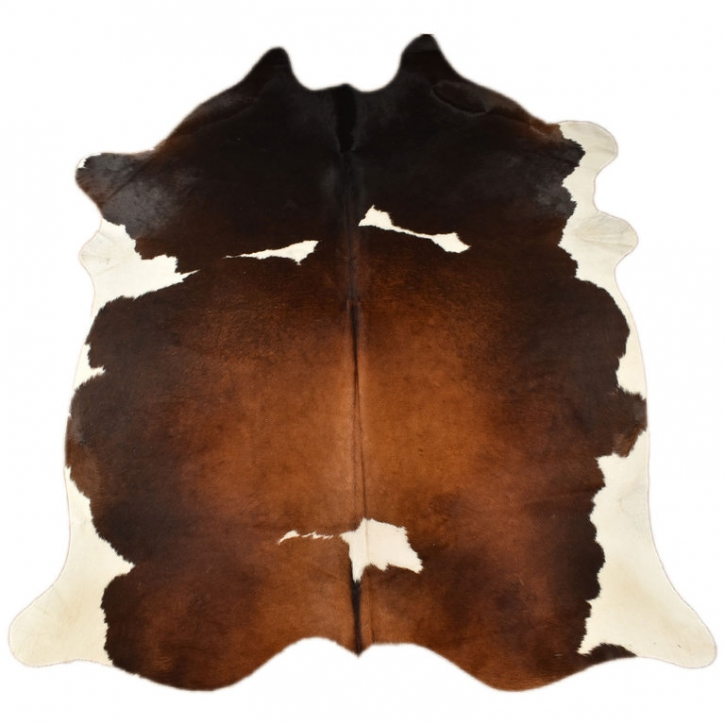 KUHFELL HELLBRAUN WEISS 215 x 180 cm