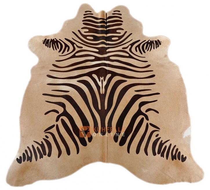 Kuhfell mit Zebra Optik  200 x 175 cm