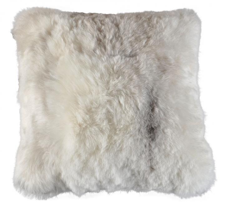 eco lammfell dekokissen beige hellgrau 50 x 50 cm. Black Bedroom Furniture Sets. Home Design Ideas