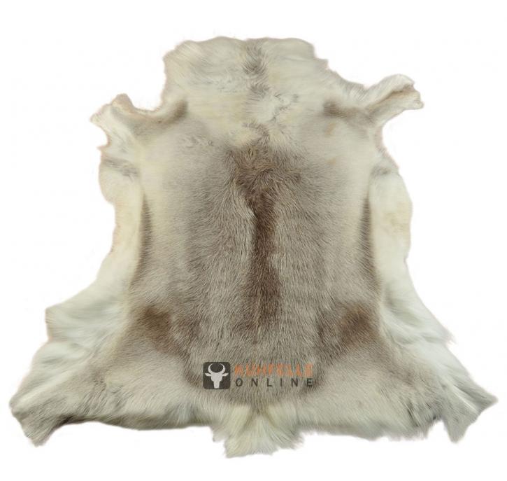 Rentierfell hellbraun weiss 120 x 105 cm Deko-Fell