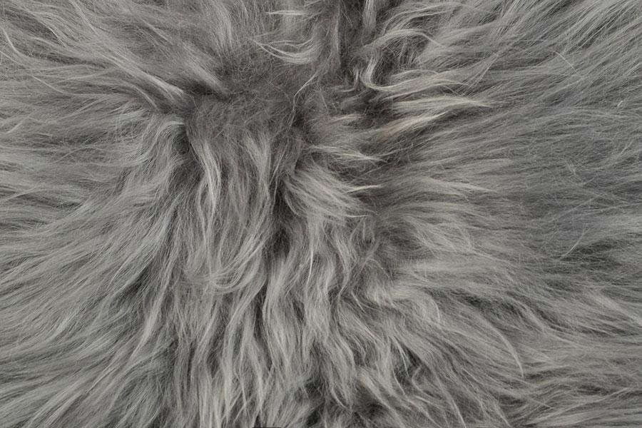 premium langhaariges lammfell grau gef rbt 100 x 70 cm. Black Bedroom Furniture Sets. Home Design Ideas