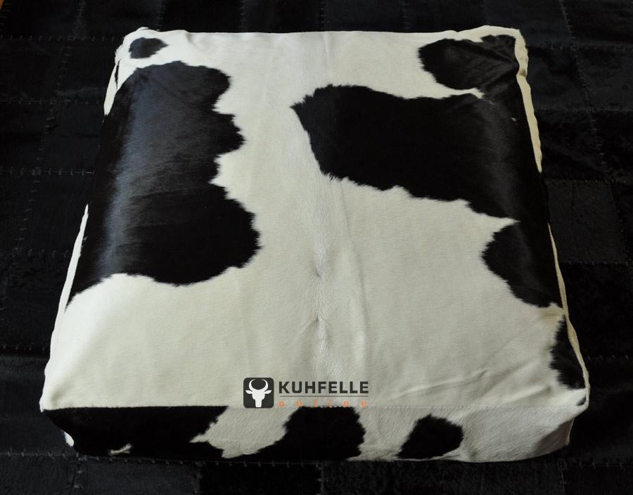 grosses kuhfell sitzkissen bodenkissen pouf 80 x 80 cm kuhfell bodenkissen 1454. Black Bedroom Furniture Sets. Home Design Ideas