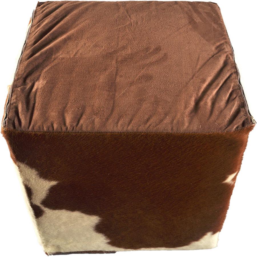 kuhfell hocker sitzw rfel braun weiss 45 x 45 x 45 cm. Black Bedroom Furniture Sets. Home Design Ideas