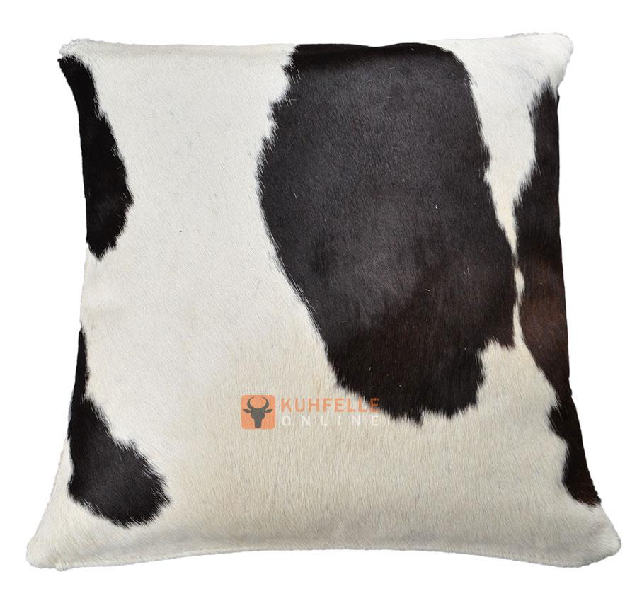 kuhfell kissenbezug schwarz weiss 50 x 50 cm. Black Bedroom Furniture Sets. Home Design Ideas