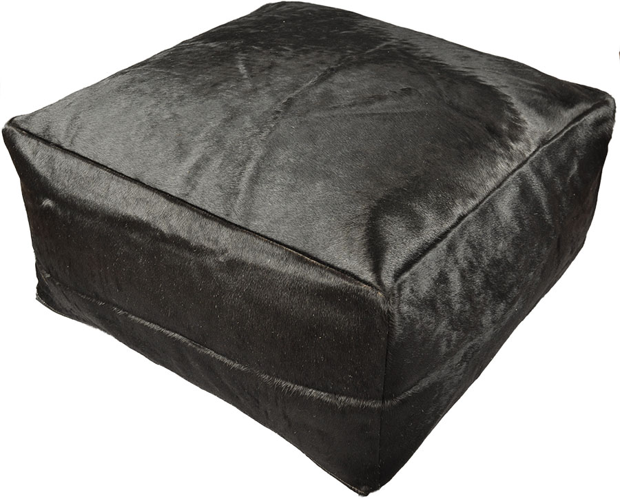 kuhfell sitzkissen pouf ottomane 60 x 60 x 30 cm. Black Bedroom Furniture Sets. Home Design Ideas