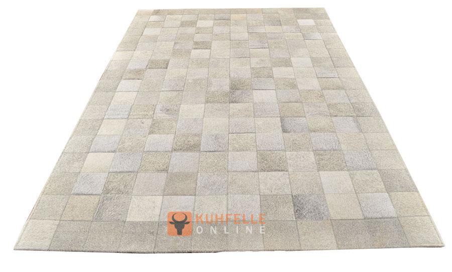 Kuhfellteppich patchwork grau 180 x 120 cm - Kuhfell teppich grau ...