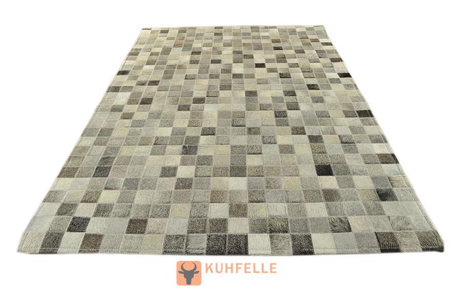 Kuhfellteppich grau 150 x 100 cm - Kuhfell teppich grau ...