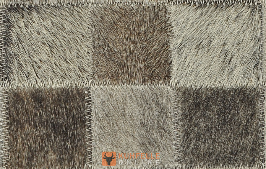 Kuhfellteppich grau 180 x 120 cm - Kuhfell teppich grau ...