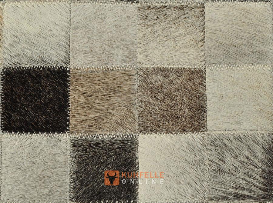 Kuhfellteppich grau 200 x 160 cm - Kuhfell teppich grau ...