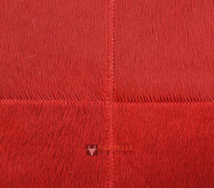 kuhfellteppich patchwork rot 200 x 160 cm. Black Bedroom Furniture Sets. Home Design Ideas