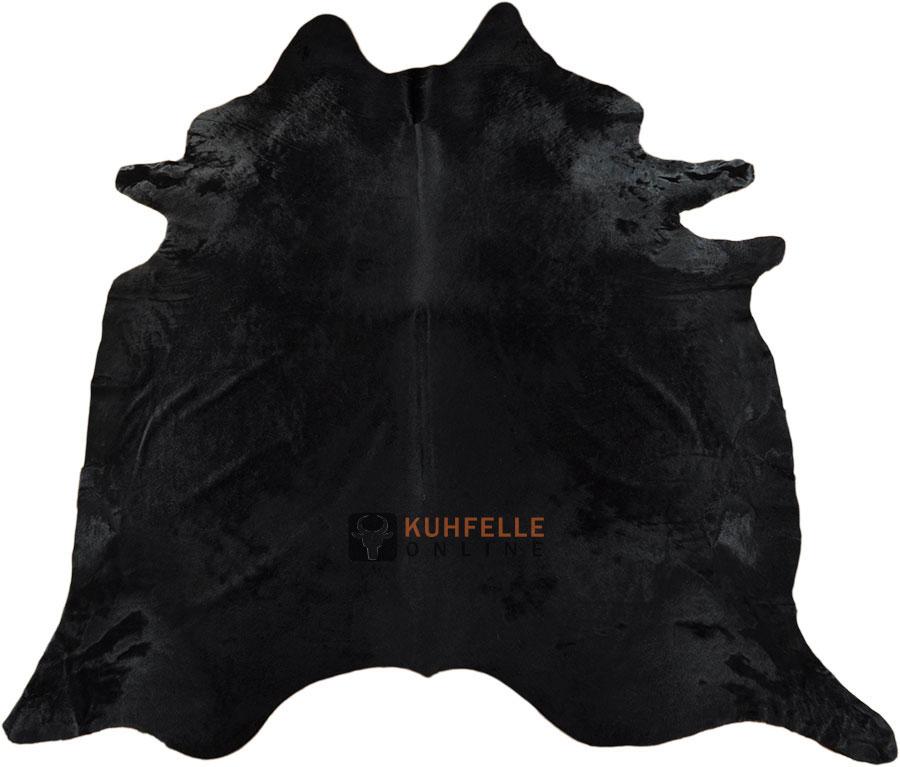 premium kuhfell schwarz gef rbt 230 x 190 cm online kaufen. Black Bedroom Furniture Sets. Home Design Ideas