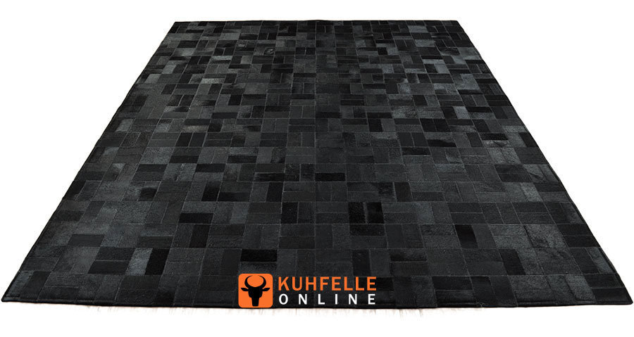 kuhfell teppich schwarz 160 x 200 cm online bestellen. Black Bedroom Furniture Sets. Home Design Ideas