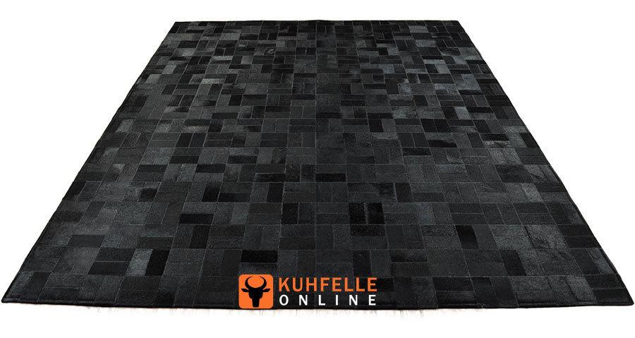 kuhfell teppich schwarz 160 x 200 cm online bestellen. Black Bedroom Furniture Sets. Home Design Ideas