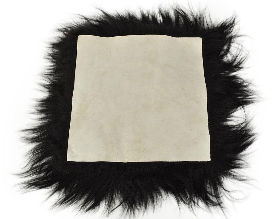 island lammfell pad stuhlkissen sitzkissen schwarz 38 x 38 cm. Black Bedroom Furniture Sets. Home Design Ideas