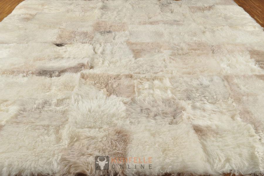 lammfell teppich patchwork beige grau 160 x 200 cm kuhfell shop eu. Black Bedroom Furniture Sets. Home Design Ideas