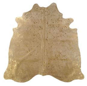 Kuhfell hellgrau gold 235 x 180 cm