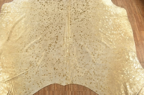 Kuhfell Kalbfell hellgrau gold Devore 230 x 200 cm