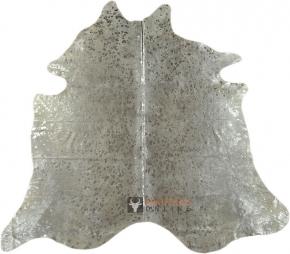 Kuhfell weiss mit silbernen Sprenkeln 205 x 180 cm