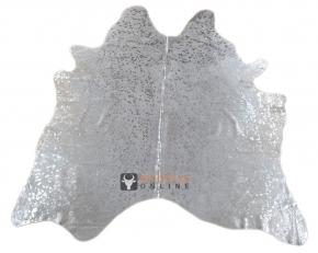Kuhfell weiss mit silbernen Sprenkeln 220 x 200 cm