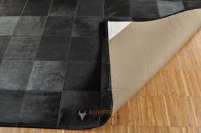 KUHFELLTEPPICH SCHWARZ 240 x 180 cm