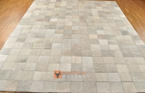 KUHFELLTEPPICH PATCHWORK GRAU 200 x 150 cm