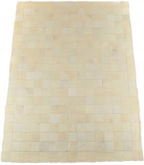 KUHFELLTEPPICH PATCHWORK CREME WEISS 150 x 200 cm