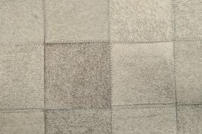 KUHFELLTEPPICH PATCHWORK GRAU 200 x 200 cm