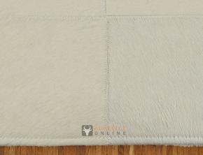 KUHFELLTEPPICH PATCHWORK WEISS 180 x 120 cm