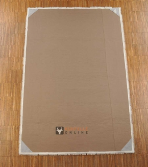 KUHFELLTEPPICH PATCHWORK CREME WEISS 120 x 180 cm
