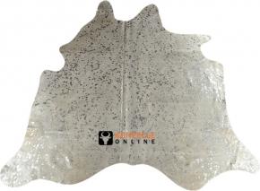 Kuhfell weiss-silber 210 x 210 cm